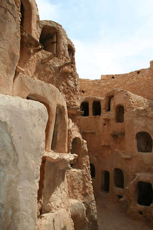 The Berber Castle for oil and grain storage, Nalut, Libya photo