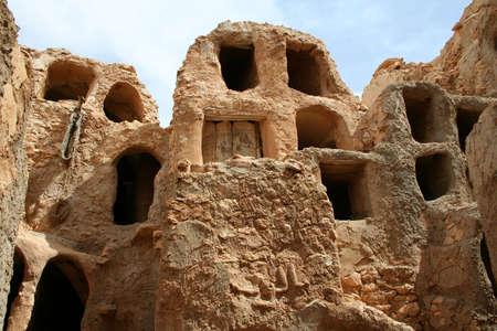 berber: The Berber Castle for oil and grain storage, Nalut, Libya Stock Photo