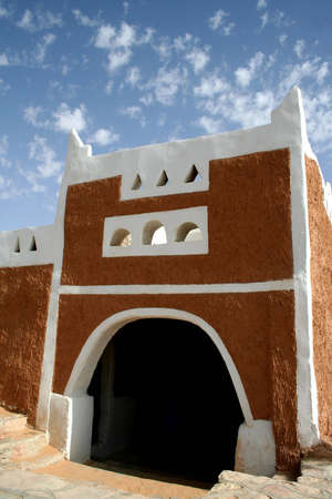 building of unesco protected ancient berber city of ghadames - libya photo