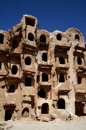 Ancient granary in Kabaw, Libya photo