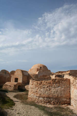 Roman Villa Sileen on the Mediterranean coast of Libya, east of Tripoli photo