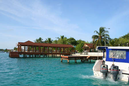 Hulule - Airport of Maldives Stock Photo