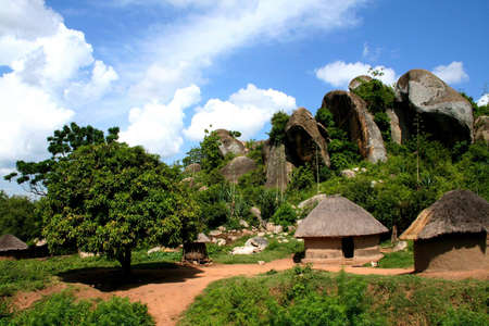 dwell: Landscape in North-West of Tanzania Stock Photo