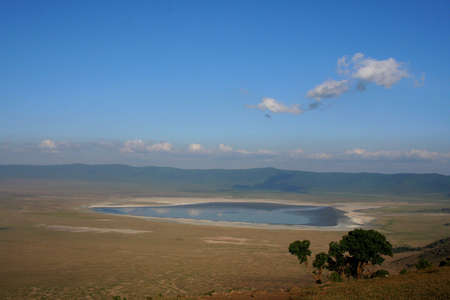 View into Ngorongoro crater, Tanzania from the rim photo