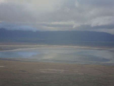 view at ngorongoro crater in tanzania, africa, at early morning photo