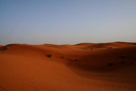 erg: Sand dunes of Erg Chebbi in the Sahara Desert, Morocco
