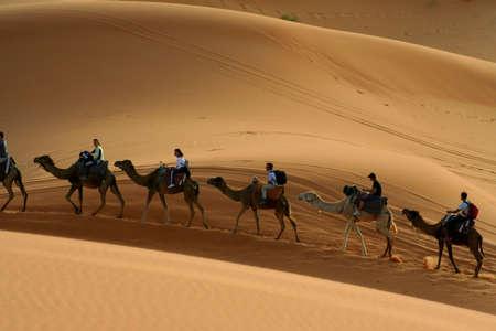 Algeria: kaeawane in Sand dunes of Erg Chebbi in the Sahara Desert, Morocco