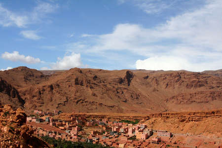 kashba valley in south of morocco photo
