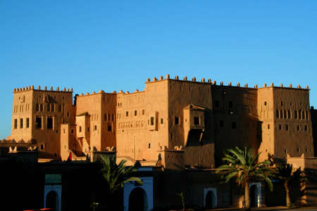 holidays vacancy:  Old Fort - the kasbah in ouarzazate Stock Photo