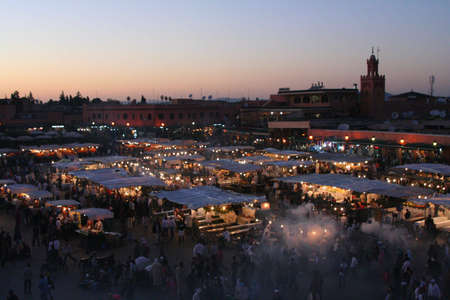 The Jema el Fna square in Marrakesh Stock Photo