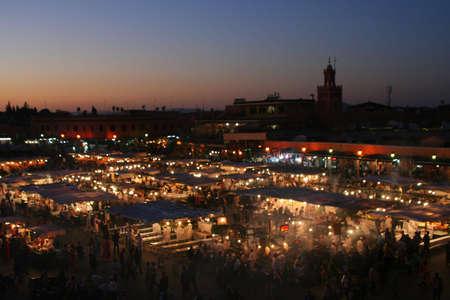 The Jema el Fna square in Marrakesh Stock Photo