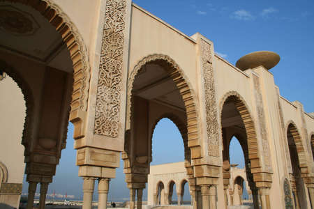 Mosque of Hassan II in Casablanca (Morocco) Stock Photo
