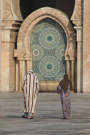 Mosque of Hassan II in Casablanca (Morocco) Stock Photo