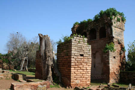 Cellah - ruins of roman buildings in Morocco, Rabat  photo