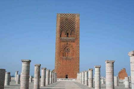 Morocco,Rabat. The Hassan Tower opposite the Mausoleum of King Mohamed V.