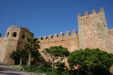 Old medina walls in Rabat, Morocco
