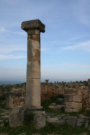 dorian: Volubilis Roman old city, Morocco, at early morning Stock Photo