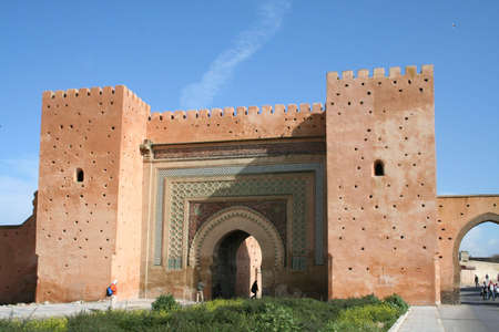 Scenery at historic city of meknes, morocco