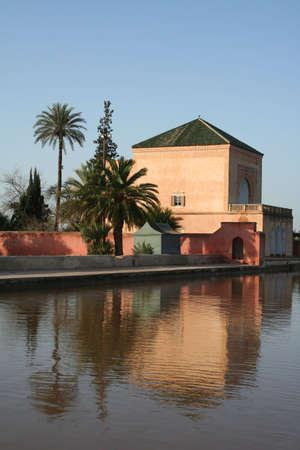 Pavilion in Menara Garden, Marrakech, Morocco