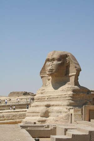 The Sphynx in gaza (Gizeh), Egypt Stock Photo