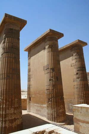djoser: temple at The Step Pyramid of Djoser (saqqara) in Egypt