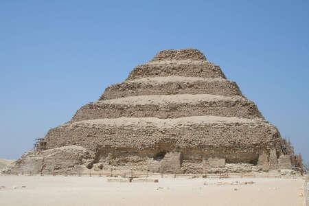 djoser: The Step Pyramid of Djoser (saqqara) in Egypt  Stock Photo