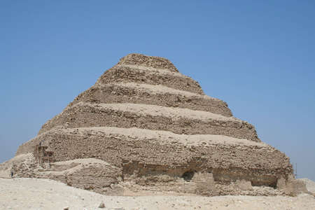 The Step Pyramid of Djoser (saqqara) in Egypt  Stock Photo