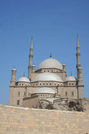 Part of the Mohammed Ali Mosque dome in the Citadel in Cairo