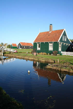 scenery at ZAANSE SCHANS in holland Stock Photo - 5916645