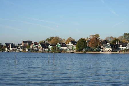 zaanse: landschap op de ZAANSE SCHANS in holland Stockfoto