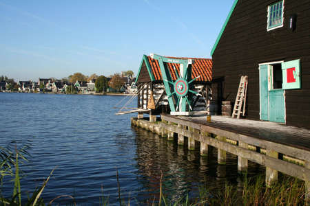 scenery at ZAANSE SCHANS in holland