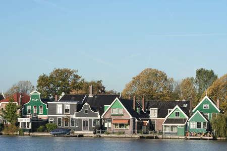 scenery at ZAANSE SCHANS in holland photo