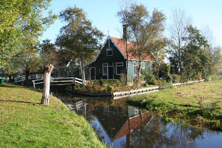 zaan: scenery at ZAANSE SCHANS in holland