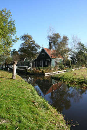scenery at ZAANSE SCHANS in holland Stock Photo - 5916430