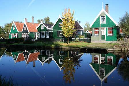 zaanse: achtergronden op ZAANSE SCHANS in holland Stockfoto