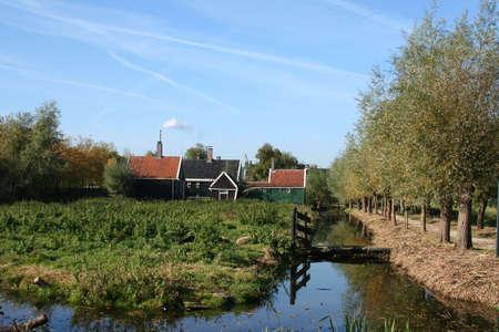 scenery at ZAANSE SCHANS in holland Stock Photo - 5916419