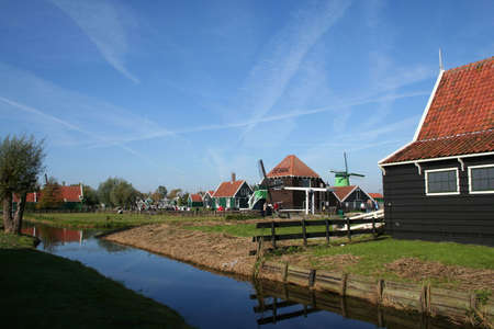 scenery at ZAANSE SCHANS in holland Stock Photo - 5910298