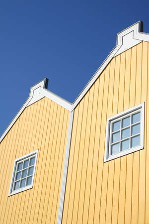 typical scandinavian wooden houses  photo