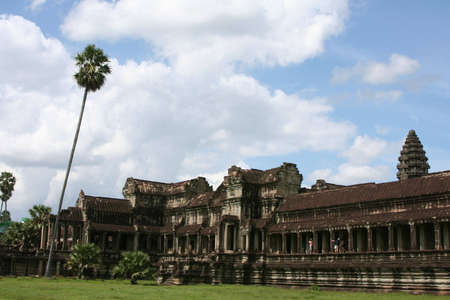 the ancient temple of Angkor Wat, Cambodia photo