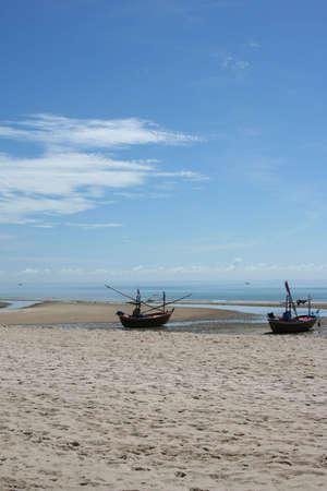 paradise beach of hua-hin in thailand photo