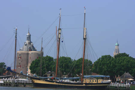 view at historic town of enkhuizen in north of holland photo