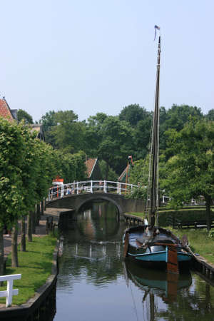 beautiful scenery at heritage museum of enkhuizen in north of holland Stock Photo - 5937992