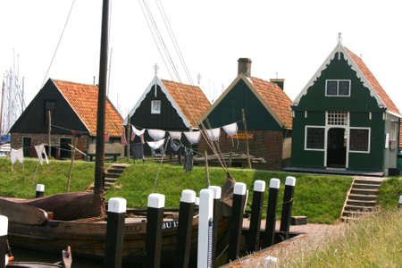 beautiful scenery at heritage museum of enkhuizen in north of holland Stock Photo - 5937998