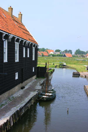 beautiful scenery at heritage museum of enkhuizen in north of holland Stock Photo - 5937995
