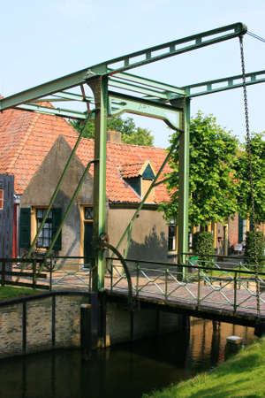 beautiful scenery at heritage museum of enkhuizen in north of holland photo