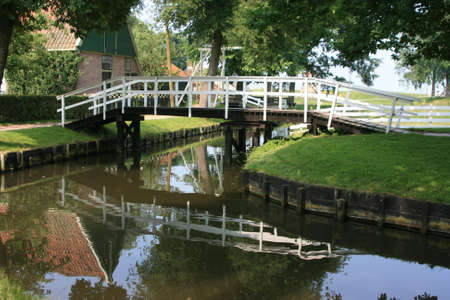beautiful scenery at heritage museum of enkhuizen in north of holland Stock Photo - 5938013