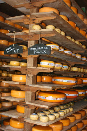 typical dutch cheese shop Stock Photo