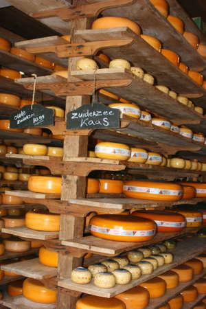 dutch typical:  typical dutch cheese shop Stock Photo