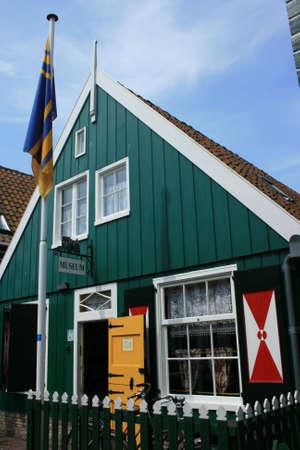 wasser: historic town of Maren in north of Holland