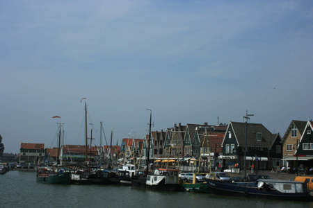 hoorn: historic harbor of Maren in north of Holland Stock Photo